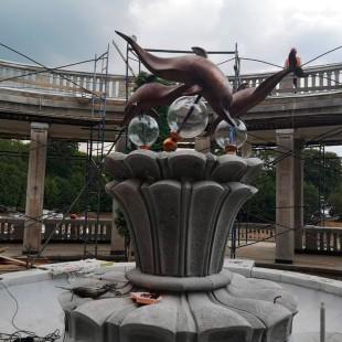 Стеклянные элементы для фонтана на Северном речном вокзале