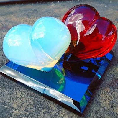 Свадебный переполох🥳или буйство красок🤩#свадебныесувениры #сердце #firstglassm #сувенир #сувенирназаказ #glasscraft #glass #coldworkingglass #present  #сувенирыизстекла #сувенирыизстекланазаказ #вседляпраздника #свадьба#статуэткиизстекла#статуэтка#